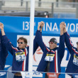 SWM: World Aquatics Championship - Mens 4 x 100m medley final. — Stock Photo