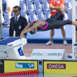 SWM: World Aquatics Championship - Womens 100m breaststroke semi final. Kasey Carlson. — Foto de Stock
