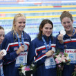 Stock Photo: SWM: World Aquatics Championship - womens 4 x 200m freestyle final.