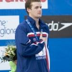 Постер, плакат: SWM: World Aquatics Championship mens 400m individual medley final Scott Clary