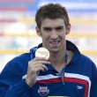 SWM: World Aquatics Championship - Ceremony mens 200m butterfly final. Michael Phelps. — Stock Photo