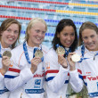 SWM: World Aquatics Championship -  womens 4 x 100m freestyle final — Stock Photo