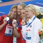SWM: World Aquatics Championship - Mens 4 x 100m freestyle final — Stock Photo