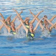 SWM: World Championship  women's team sychronised swimming — Stock Photo