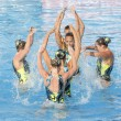SWM: World Championship  womens team sychronised swimming — Foto de Stock