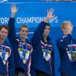 SWM: World Aquatics Championship - Mens 4 x 100m medley final — Stock Photo