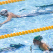 SWM: World Aquatics Championship - womens 200m breastroke.  Rebecca Soni, Mirna Jukic — Stock Photo