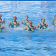 SWM: World Championship women's team sychronised swimming — Stockfoto