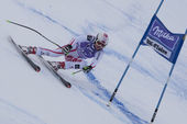 FRA: Alpine skiing Val D'Isere Super Combined. Andrea Fischbacher. — Stock Photo