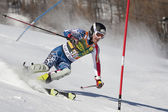 FRA: Alpine skiing Val D'Isere men's slalom. BRANDENBURG Will. — Stock Photo