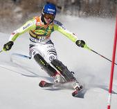 FRA: Alpine skiing Val D'Isere men's slalom. NEUREUTHER Felix. — Stock fotografie