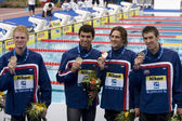 SWM: World Aquatics Championship - Mens 4 x 200m freestyle final — Zdjęcie stockowe