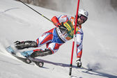 FRA: Alpine skiing Val D'Isere men's slalom. TREJBAL Filip. — Stock Photo