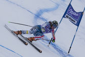 FRA: Alpine skiing Val D'Isere Super Combined. Stacey Cook. — Stock Photo