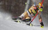 FRA: Alpine skiing Val D'Isere men's slalom. COUSINEAU Julien . — Stock Photo