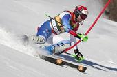 FRA: Alpine skiing Val D'Isere men's slalom. ZURBRIGGEN Silvan . — Stock Photo