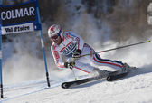 FRA: Alpine skiing Val D'Isere men's GS. DE TESSIERES Gauthier. — Stock Photo