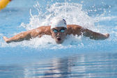 SWM: World Aquatics Championship - Mens 100m butterfly qualific. Michael Phelps — Stock Photo
