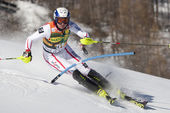 FRA: Alpine skiing Val D'Isere men's slalom. BECHTER Patrick. — Stock Photo