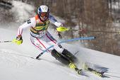 FRA: Alpine skiing Val D'Isere men's slalom. BECHTER Patrick. — Stock Photo