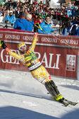 Fra: alpejskie narciarstwo val d'isere slalom mężczyzn. cousineau julien. — Zdjęcie stockowe