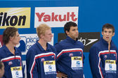 SWM: World Aquatics Championship - Mens 4 x 200m freestyle final — Foto de Stock