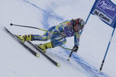 FRA: Alpine skiing Val D'Isere Super Combined. Vanja Brodnik. — Stock Photo