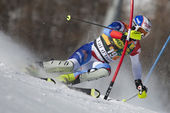 FRA: Alpine skiing Val D'Isere men's slalom. GINI Marc. — Stock Photo