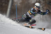 FRA: Alpine skiing Val D'Isere men's slalom. MYHRE Lars Elton . — Stock Photo