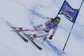 FRA: Alpine skiing Val D'Isere Super Combined. Sandrine Aubert. — Stock Photo