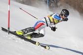 FRA: Alpine skiing Val D'Isere men's slalom. KHOROSHILOV Alexander. — Stock Photo