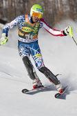 FRA: Alpine skiing Val D'Isere men's slalom.MILLER Bode . — Zdjęcie stockowe