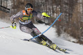 FRA: Alpine skiing Val D'Isere men's slalom. IMBODEN Urs. — Stock Photo