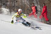 FRA: Alpine skiing Val D'Isere men's slalom. DOPFER Fritz. — Stock Photo