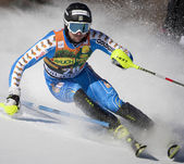 FRA: Alpine skiing Val D'Isere men's slalom. LARSSON Markus. — Stock Photo