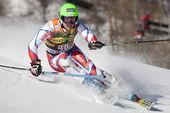 FRA: Alpine skiing Val D'Isere men's slalom. KRYZL Krystof. — Stock Photo