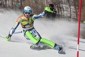 FRA: Alpine skiing Val D'Isere men's slalom. SKUBE Matic. — Stock Photo
