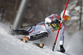 FRA: Alpine skiing Val D'Isere men's slalom. TISSOT Maxime. — Stock Photo