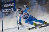 FRA: Alpine skiing Val D'Isere men's GS. LARSSON Markus. — Stock Photo