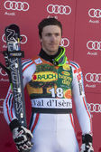 FRA: Alpine skiing Val D'Isere men's slalom. Steve Missillier. — Stock Photo