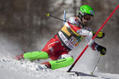 FRA: Alpine skiing Val D'Isere men's slalom. BJORGVINSSON Bjorgvin. — Stock Photo