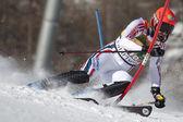 FRA: Alpine skiing Val D'Isere men's slalom. OBERT Anthony. — Stock Photo