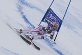 FRA: Alpine skiing Val D'Isere Super Combined. Michaela Kirchgasser. — Stock Photo
