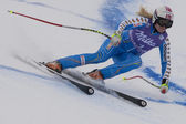 FRA: Alpine skiing Val D'Isere Super Combined. Jessica Lindell-Vikarby. — Stock Photo