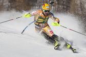 FRA: Alpine skiing Val D'Isere men's slalom. COUSINEAU Julien. — Stock Photo