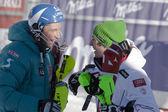 FRA: Alpine skiing Val D'Isere men's slalom. RAICH Benjamin. — Stock Photo