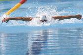 SWM: World Aquatics Championship - Mens 100m butterfly qualific. Michael Phelps. — Foto Stock