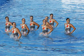 SWM: World Championship women's team sychronised swimming — Foto de Stock