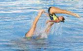 SWM: World Championship women's team sychronised swimming — Stock Photo
