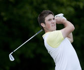 Matt Haines (GBR) in action on the first day of the European Tour, 14th Open de Saint-Omer, — Stock Photo